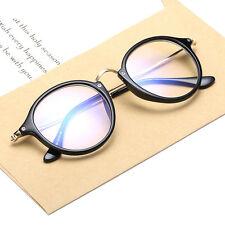 1x Unisex Jahrgang Nerd Brille filigran Rund Glasses Klarglas Hornbrille Eyewear
