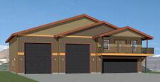 60x50 Apartment with 2-Car 2-RV Garage - PDF FloorPlan - 1,648 sqft - Model 2C