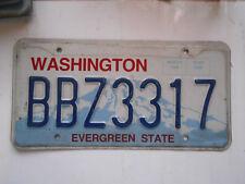 plaque immatriculation  usa washington license plate old americaine 3317