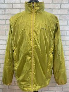 Vintage Patagonia Windbreaker Lined Jacket Men's XL Gold Full Zip Nylon Logo
