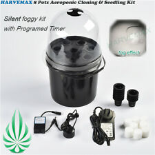 8 Cups Seedling & Cloning Station Machine Mister Foggy Cloud Bucket Kit