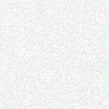 Whisper Prints 3 - White on White - Growing Leaves