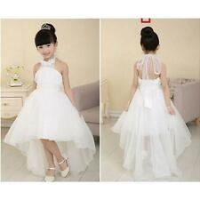 Baby Kid Girl Princess Dress Party Pageant Bridesmaid Tutu Tulle Dresses 7-8Y