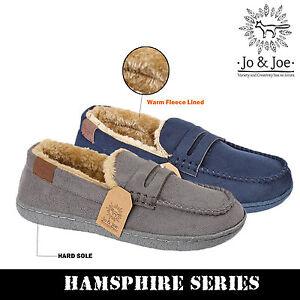 Boys Kids Infants Junior Fleece Lined Moccasin Warm Winter Slip On Slippers Shoe