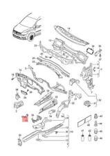 Genuine Bracket For Headlight Left VW Caddy Touran 1T0803399
