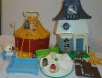 VTG Weebles Haunted House/Circus Little People PLAYSETS ONLY W/SOME ACCESSORIES