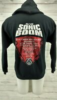 Sonic Boom Tour 2015 Five Finger Death Punch Size Medium Black Full-Zip Hoodie