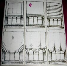 "Vogue DECOR #V79221 WINDOW SHADES TREATMENTS 6 Styles (36""-42""-48"" Wide) Uncut!"