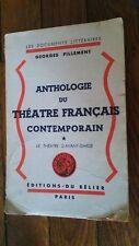 Anthologie du théatre Français contemporain-le théa d'avant-garde-Pillement-1945