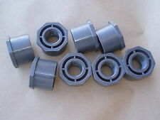 """Schedule 80 PVCI 2 x 1 reducer coupling, female threaded 1"""" to 2"""" slip type"""