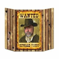 Wild West Wanted Poster Photo Prop - 94 cm - Cowboy Stand up Party Decorations