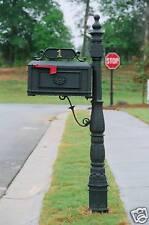 Better Box Cast Aluminum Mailbox Black *Review Closely*