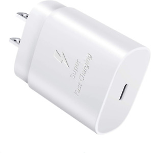 25W USB-C to Type-C Fast Charging Wall Charger For Samsung S20 iPhone