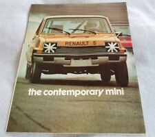 Used renault car seat ebay 1975 1976 renault 5 lecar original car sales brochure folder rally mini sciox Image collections