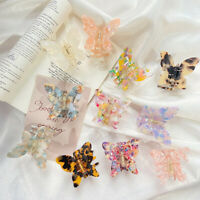 Women Butterfly Hair Claw Clip Clamps Ponytail Holder Barrette Simple Hairpin