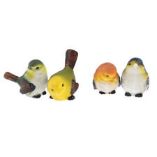 4pcs Artificial Resin Birds Animal Realistic Garden Yard Home Decor Ornament