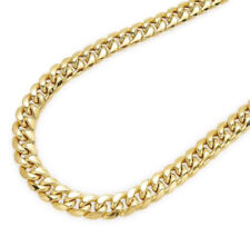 14K Yellow Gold Hollow Miami Cuban Link 5.8mm Chain Necklace w/ Box Lock Clasp