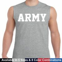 US ARMY PT Crossfit Workout Gym SLEEVELESS Tee T Shirt