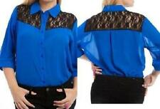 Polyester 3/4 Sleeve Plus Size Tops & Blouses for Women