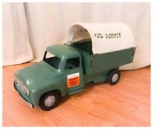 Vintage CLEAN MINTY Buddy L US ARMY Truck Pressed Steel