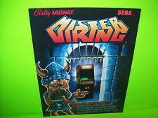 Midway MISTER VIKING 1984 Original NOS Video Arcade Game Machine Promo Flyer