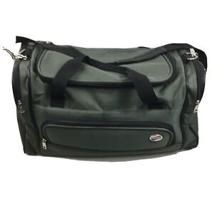 American Tourister Duffel Carrying Bag Forrest Green 21x11x9 Shoulder Strap