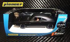 Pioneer Black Steath 1969 Dodge Charger 426 Hemi DPR LE 1/32 Scale Slot Car P091
