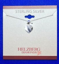 Genuine .925 Sterling Silver Heart With Pendant Necklace Fashion Jewelry