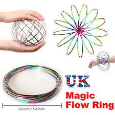 FLOW RING Bracelet Toys Magic Kinetic Spring Infinity Arm Slinky Juggle Dance B3