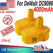 2 PACK For DeWalt 18V 4000mAH DC9096 XRP DC9099 DC9098 Ni-MH Battery