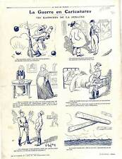 Caricature Guerre Poilus Marmites Soldiers Deutsches Heer Germany 1917 WWI