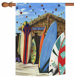 Toland Surf Shack 28 x 40 Colorful Summer Beach Surfing Sport House Flag