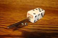 """BICYCLE Lucky """"7"""" Double Stack Dice / Die Memo Tobacco-Herb Aligator Roach Clip"""