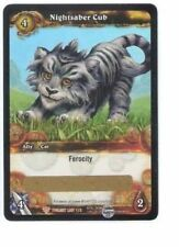 WOW World of Warcraft TCG Unscratched Loot Card Nightsaber Cub WOW Cub Pet
