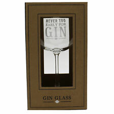 Never Too Early For Gin Large Gin Glass In Gift Box G&T Ideas Gifts