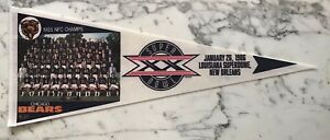 CHICAGO BEARS SUPERBOWL 20 TEAM PICTURE PENNANT