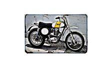 Bsa B50Mx Motorbike Sign Metal Retro Aged Aluminium Bike