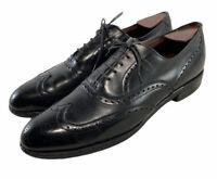 ALLEN EDMONDS CHESTER WING TIP BLACK OXFORDS DRESS SHOES MENS SIZE 10 AA