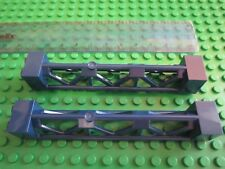 Lego Technic Construction 2 x Bridge Support 2 x 2 x 10 Girder Triangular BLUE