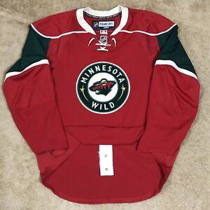 Reebok Edge 1.0 Authentic Minnesota Wild NHL Hockey Jersey Red Home MiC 54