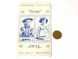 TWIN Carreras Turf Brand Card Charles Laughton and Jane Wyman cut flaps