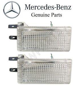 For Mercedes R107 C107 Set of 2 Interior Leg Room Courtesy Lights Genuine