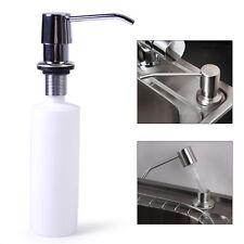 Kitchen Bathroom Sink Soap Lotion Dispenser Stainless Steel Head + ABS Bottle