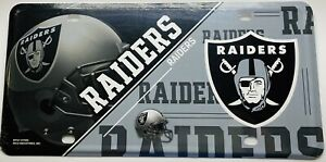 OAKLAND RAIDERS LICENSE PLATE METAL FREE SHIPPING BRAND NEW STYLE