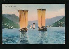 Italy MENAGGIO Sul Lago di Como traditional sailing boats Used c1900/10s? PPC