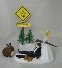 Wedding Party Reception Rabbit Hare Cake Topper Hunter Hunting Dog Redneck