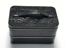 New 2018 Lancome Large Black Hard Train Case Zip Makeup Cosmetic Bag Organizer