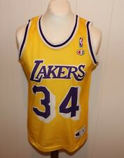 CHAMPION #34 SHAQUILLE O'NEAL LOS ANGELES LAKERS TRIKOT NBA GR S JERSEY