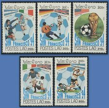 "LAOS N°1041/1045** Football ""San Francisco 94"" , 1992 Soccer  SC#1067-1071 MNH"