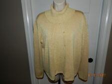 Josephine Chaus Sweater Vest Size L/M Beige/gold Knit Cowl Neck twinset